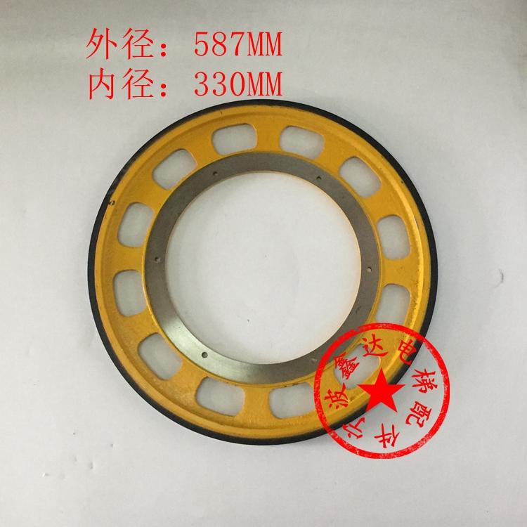 شندلر المصعد عجلة الاحتكاك فو حزام اليد عجلة القيادة عجلة الاحتكاك جيانغنان جيجي المصعد * 30M10M12 587