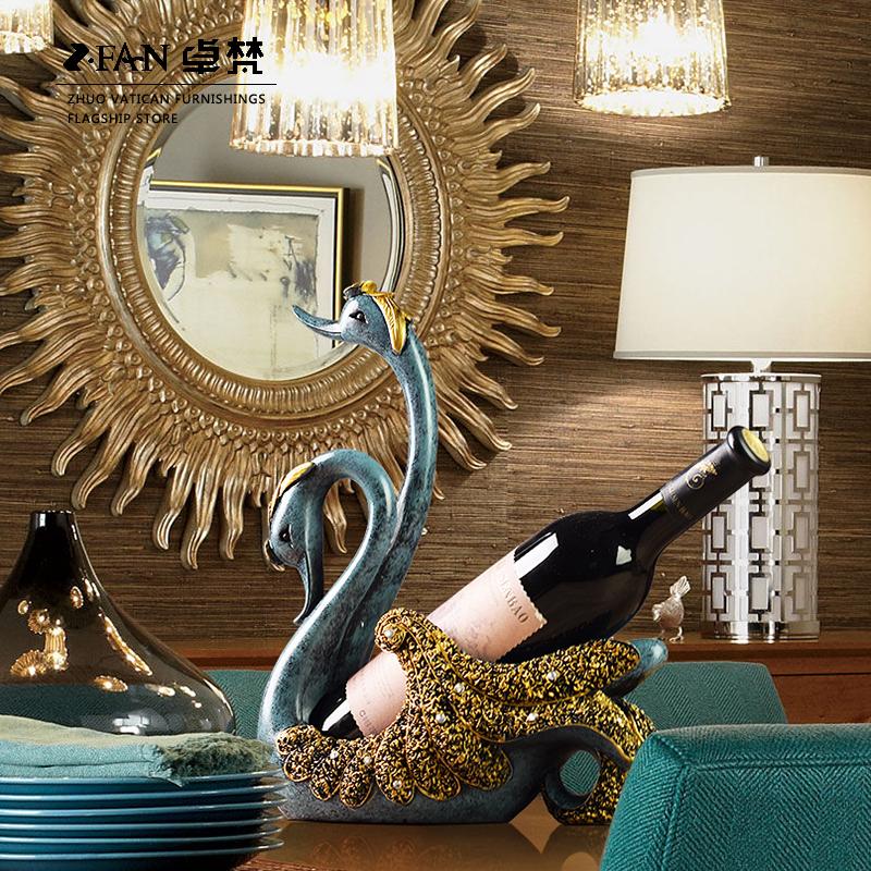 백조 장식품 유럽 아메리카노 거실 거실 술집 장식품 tv 계산대 현관 탁자, 설치, 제품, 와인, 대가