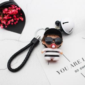 天天特价钥匙扣女韩国可爱 创意汽车个性挂件铃铛情侣公仔钥匙链