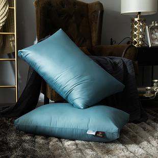 五星级酒店枕芯羽丝绒枕芯白绒枕枕头单人护颈枕B【一对装】