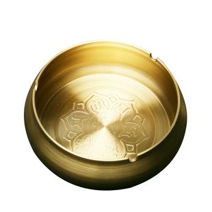 纯铜烟灰缸带盖家用全铜大号欧式创意时尚客厅防摔办公室家居摆