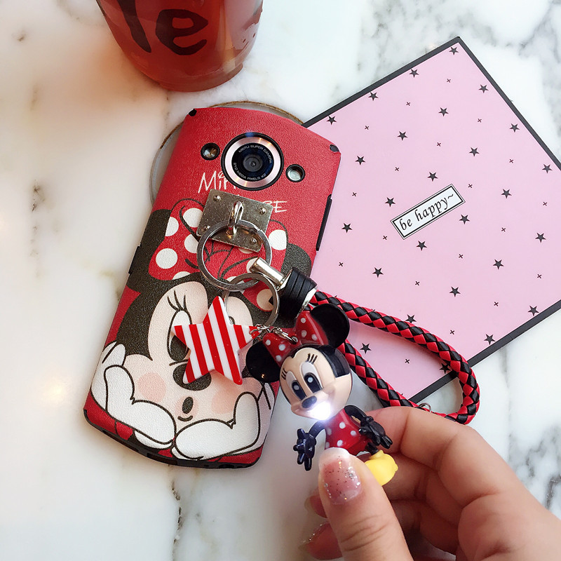 Cute cartoon beauties T8 mobile phone shell m8/m6s protective sleeve m4/v4s soft silk hangings creative personality female models