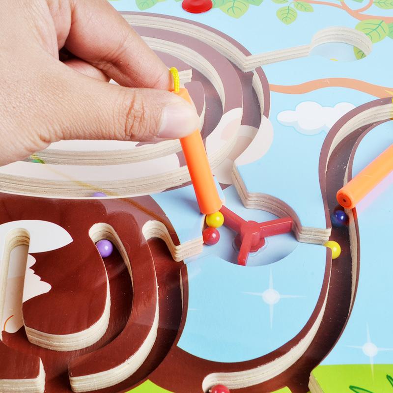 magnetické bludiště otcovství dítěte 3-4-6 holky magnetické děti puzzle chlapec intelektuální propisek 走珠 hračky