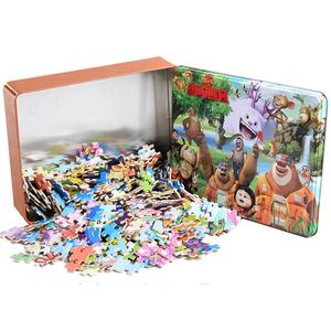 300/500/1000片儿童成人拼图铁盒木质玩具男孩6-7-8-9-10-11-12岁