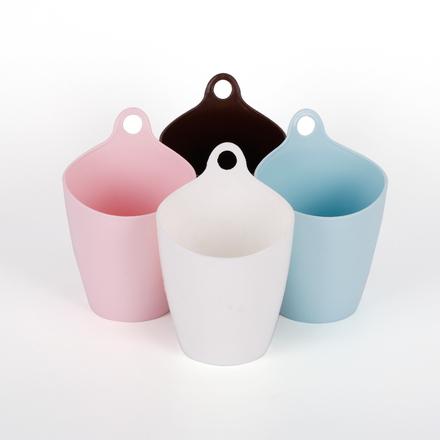 垃圾桶创意家用客厅塑料筒迷你垃圾筒无盖悬挂筒简约小号桌面纸篓