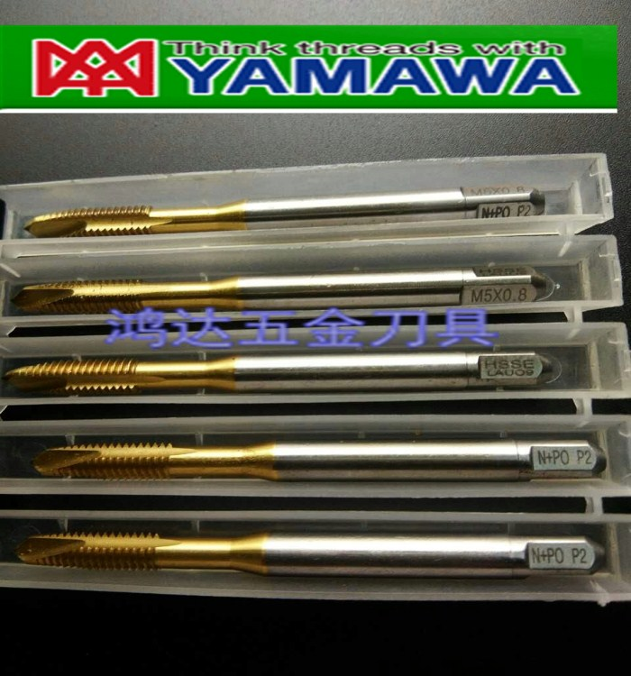 Japan imported YAMAWA titanium screw tap m6x1m8x1.25m10x1.5m12x1.75 apex