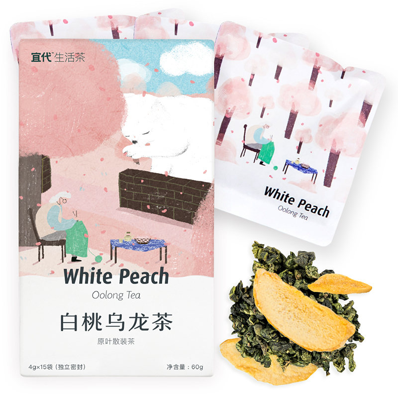 Should the generation of white peach peach tea oolong tea Oolong Tea 15 bags of herbal tea tea tea peach fruit