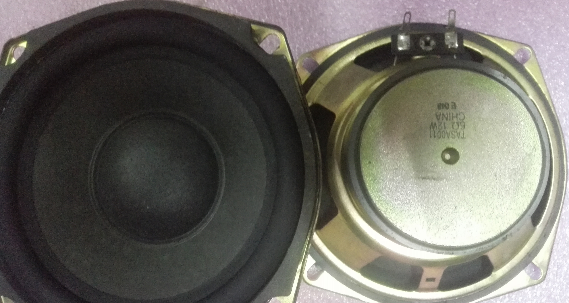 Matsushita in 5 inch rear projection TV disassemble woofers on the price of a car audio HIFI value DIY
