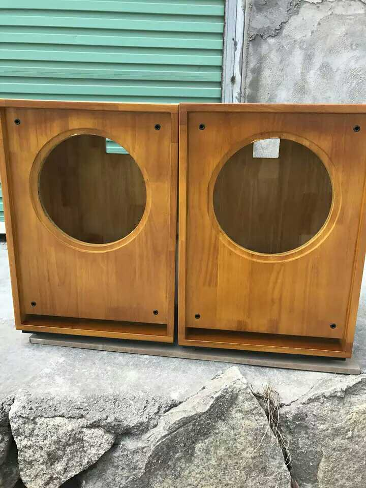 Three custom-made 12 inch 15 inch full frequency coaxial solid wood antique sound maze large bookcase sound box sound empty box