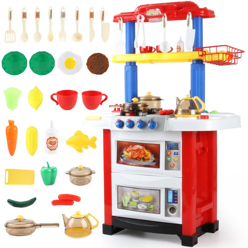 小伶儿童厨房玩具套装仿真厨具煮饭女孩做饭女童宝宝过家家3-6岁7