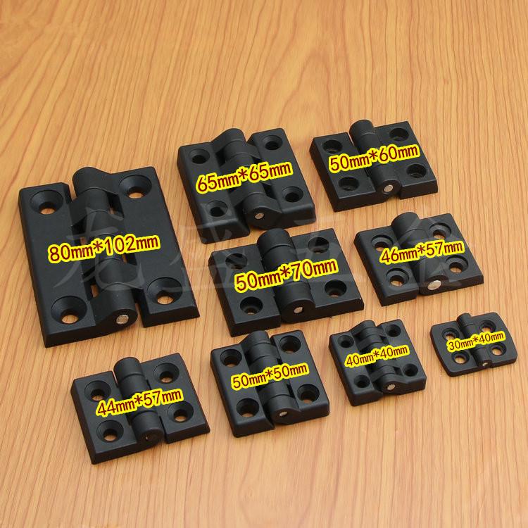 Black ABS nylon plastic hinge hinge 30*4040*4050*6050*7065*65mm