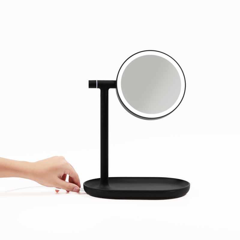 Flip - up mirror, high definition, flicker, LED makeup lamp, 3 times magnified chassis dresser