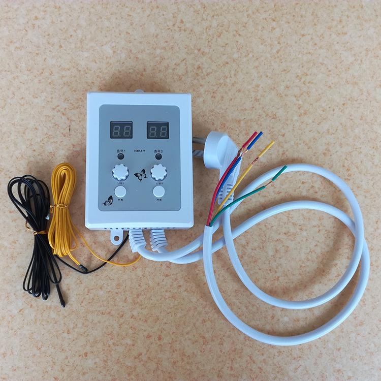 Nhiệt điện địa nhiệt để sưởi ấm điện màng công tắc điện lấy độ ấm nhiệt độ đôi điều khiển nhiệt kế để điều khiển giường sưởi điện