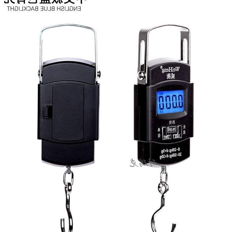 الالكترونية المحمولة مقياس الالكترونية المحمولة صغيرة تسمى 50kg اكسبرس ربيع هوك مقياس الأمتعة وزن النطاق رافعة وزنها