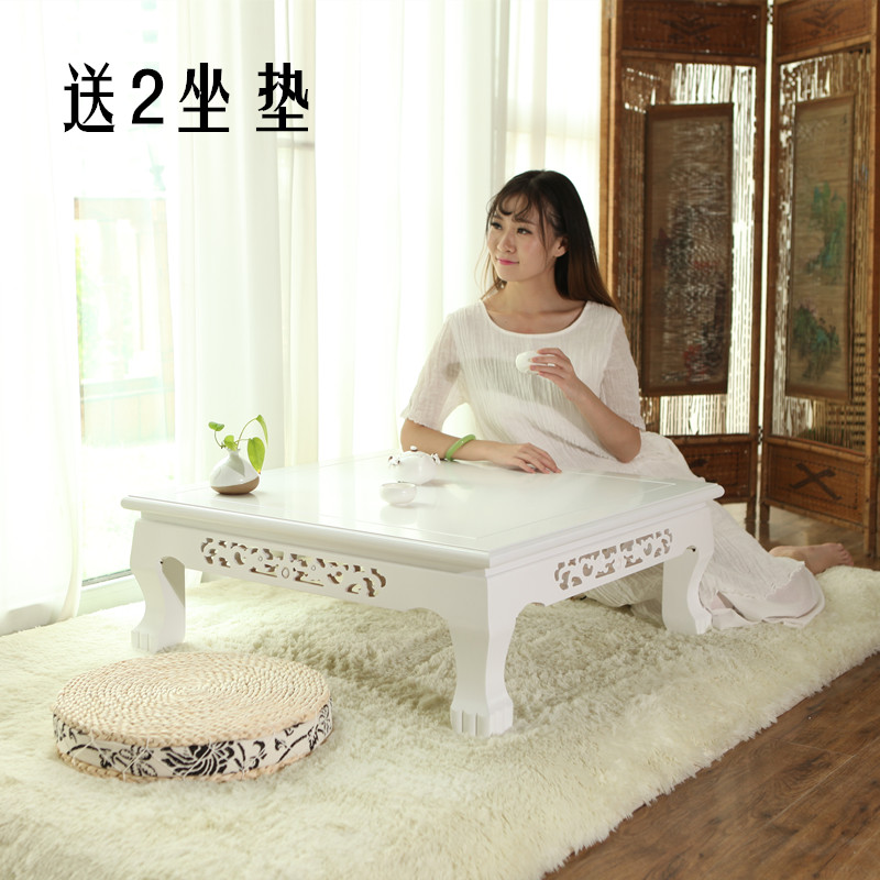The tea table table balcony window elm floating bed on the table - Kang Kang several short table table several tatami wood