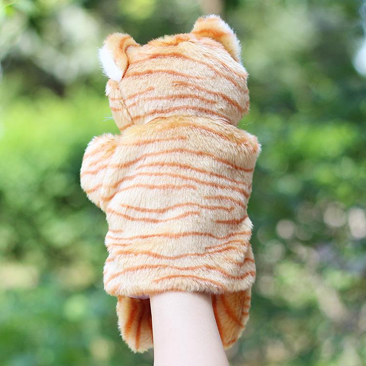 Τα ζώα τη γάτα και το ποντίκι κούκλες λούτρινο ζώο νηπιαγωγείο γονέα γάντια πράξεις.