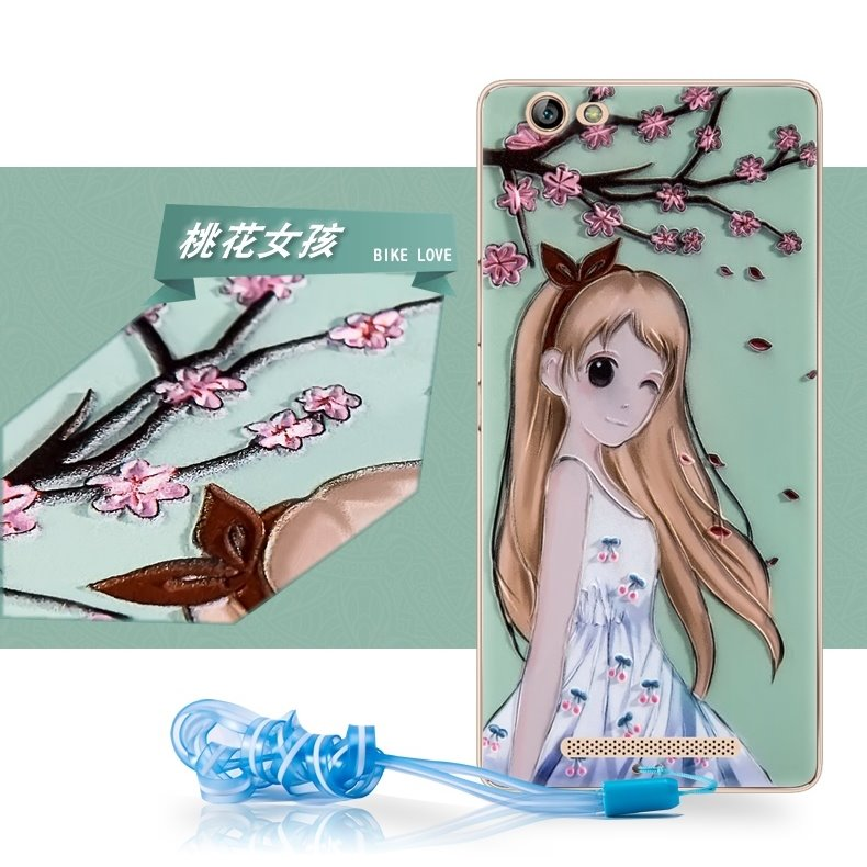 Enjoy the lovely Jin M5 version of mobile phone shell GN5002 mobile phone lanyard mobile phone cartoon package set relief soft sleeve