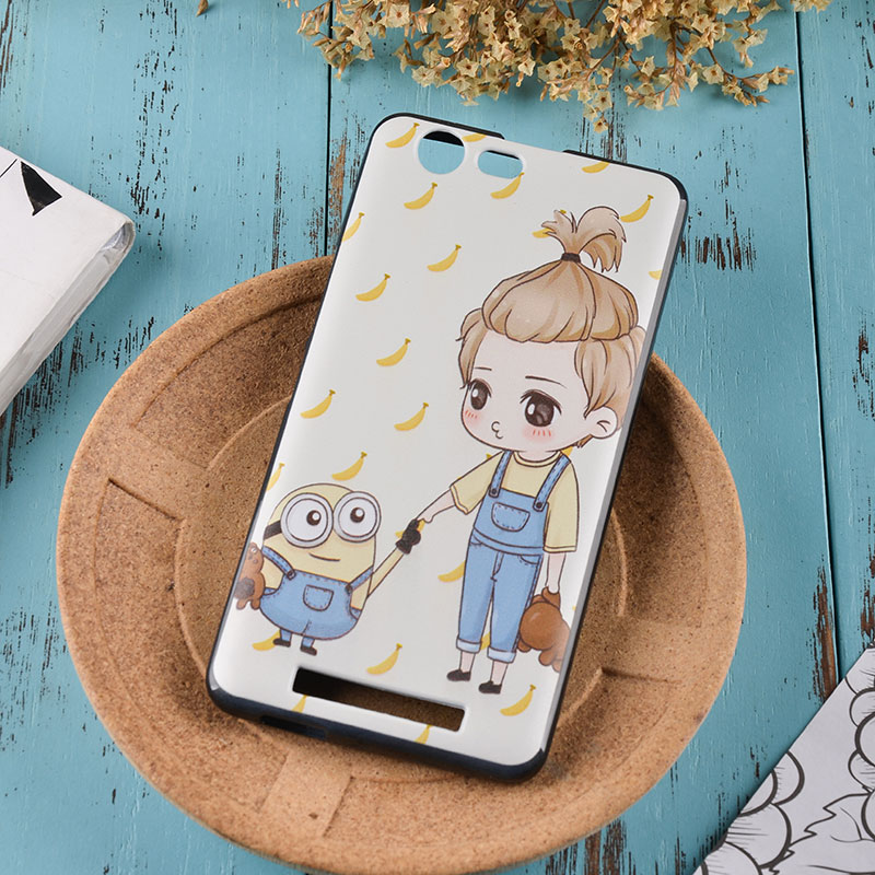 Jin m5plus mobile phone shell transparent GN8001 cover soft shell of m5plus m5plus men and women fall cartoon