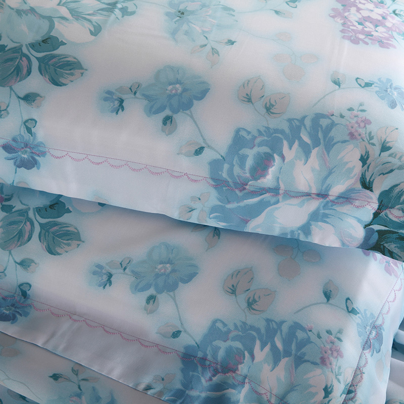 Four sets of new Tsz textile Tencel 1.8 meters double bed summer Lesel bedding four piece