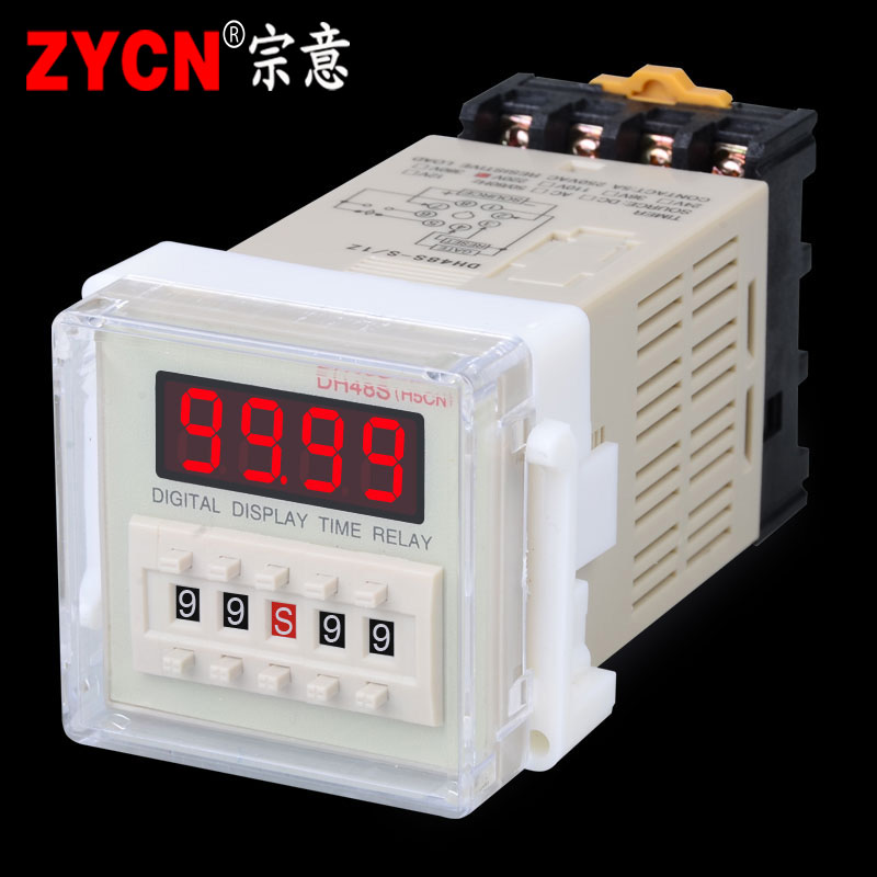 DH48S-1Z digitalt display tid - 8 - 1 gruppe forsinkelse registeransvarlige 24V~240V spænding universelle base