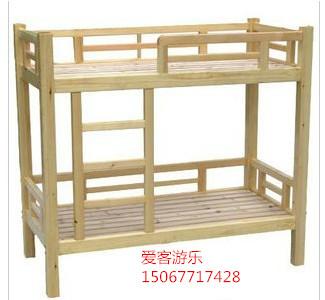 Manufacturers selling children bed wood double double bunk bed for kindergarten baby nap children bed