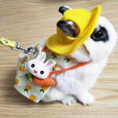 宠物兔子衣服牵引绳垂耳兔侏儒兔猫猫兔兔子用品衣服包小兔子衣服