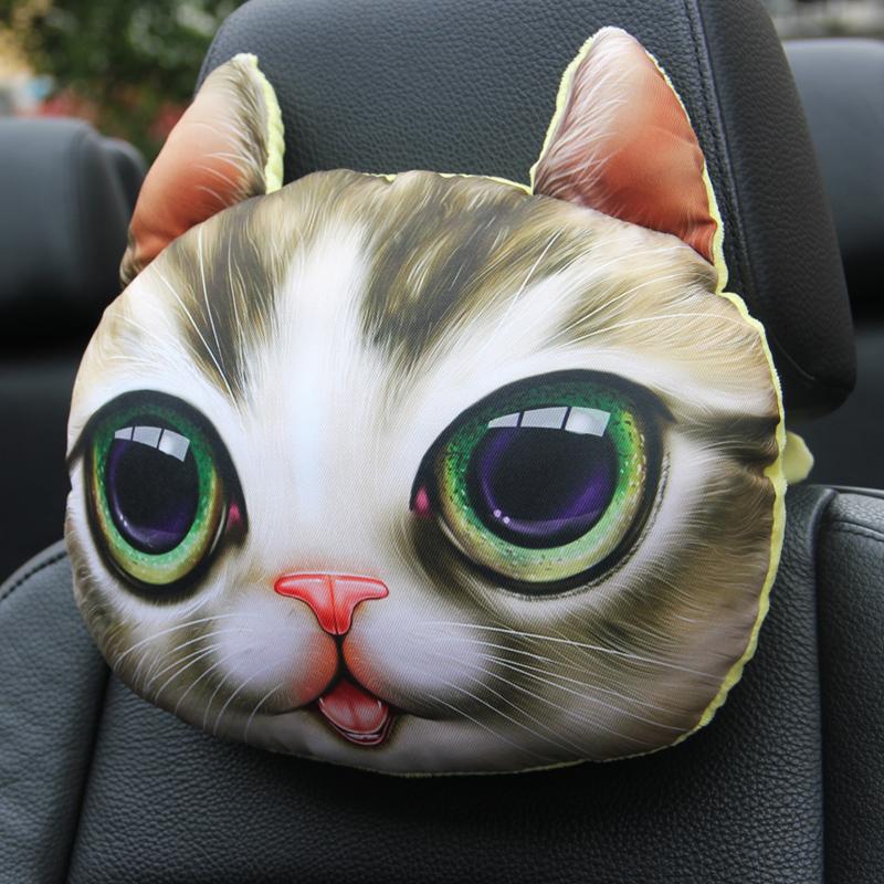 シベリアンハスキー3 D枕枕車用シート首クッション車載護頚枕可愛いキャラクターインテリア用品自動車
