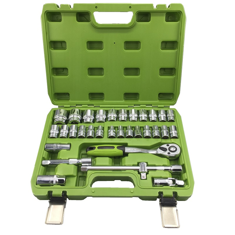 Bo Bo 53 pieces of sleeve wrench set, repair automobile dimension combination group hardware toolbox, ratchet wrench set