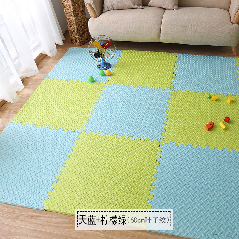 The foam pad covered with tatami mosaic puzzle thickening bedroom home floor mat children crawling pad 60