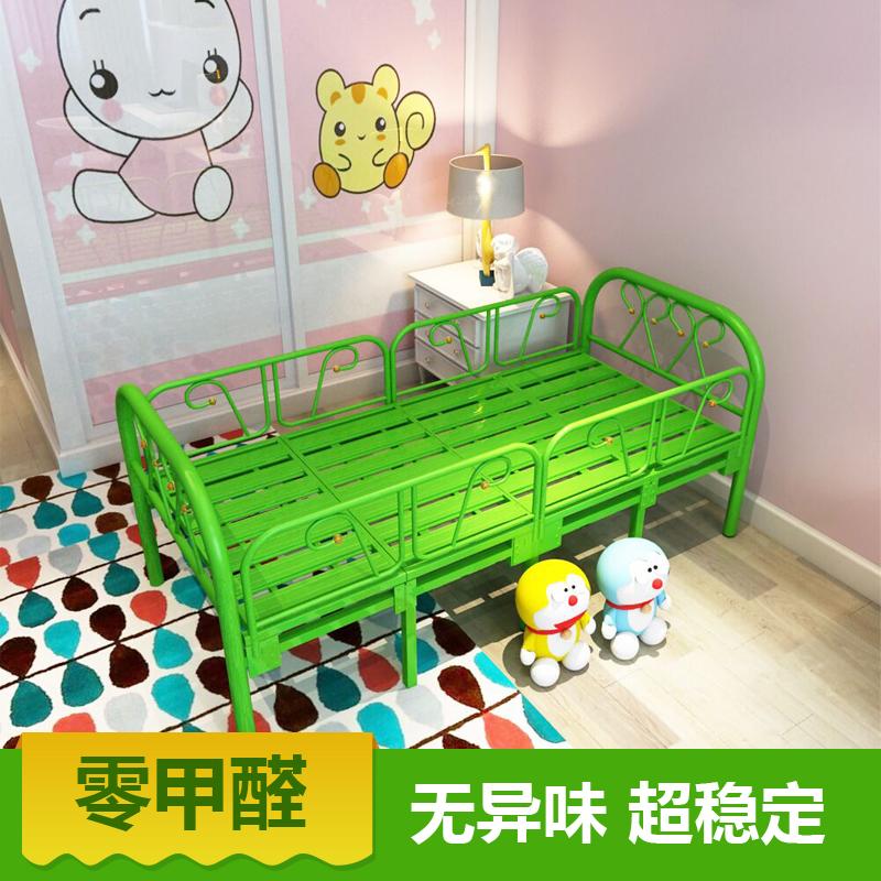 Los niños en la cama con sábanas de la cama de la princesa de la barandilla de chicos y chicas que la función de cama plegable simple cama de niño, cama de hierro forjado