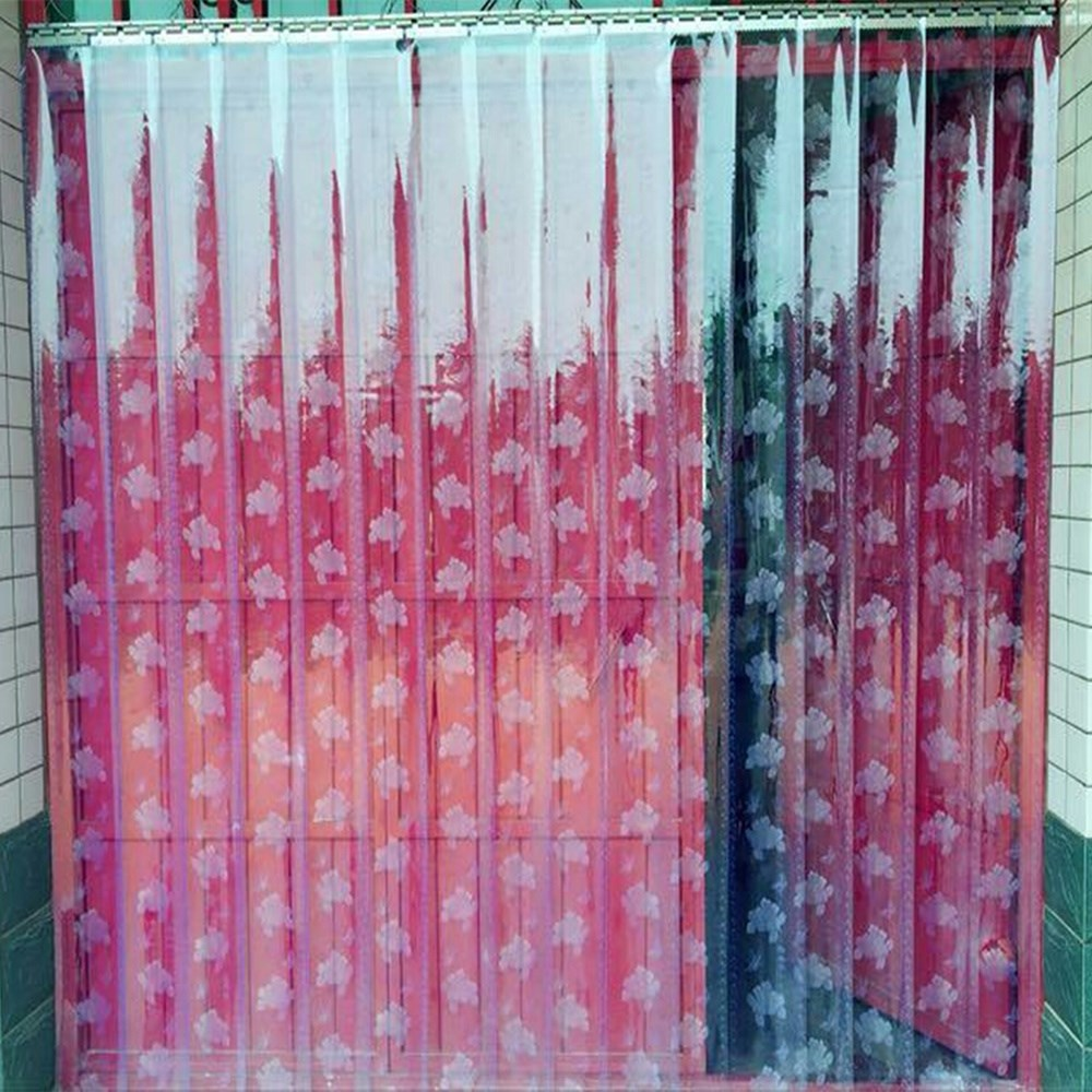 Cortina de vidro transparente de plástico macio macio Pele de Cortina Cortina Cortina Cortina de ar condicionado - supermercado - com furo de suspensão