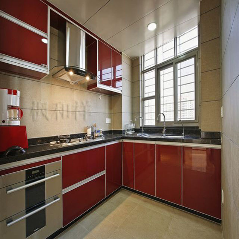 Maple and the whole cabinet customized modern and simple European style stainless steel quartz stone house full custom
