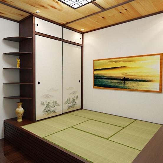 Japanese tatami full house custom wood floor and the whole storage box bed bedroom wardrobe bookcase custom