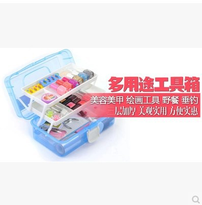 Nail kit, big and small beginners makeup storage kit, hand repair foot suit supplies collection kit