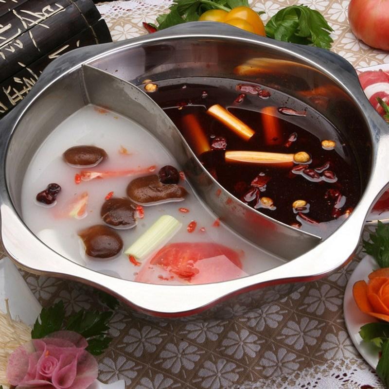 PanelA de fondue Redondo dormitório octagon bacia bacia Grande restaurante PanelA fogão eletromagnético de dormitório.