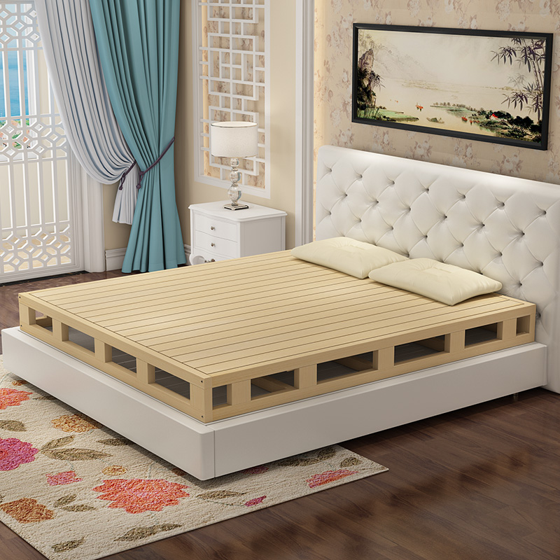 Wood and wooden mattress mattress heightening double 1.5 meters 1.8 meters shelf bed hard Simmons bed frame