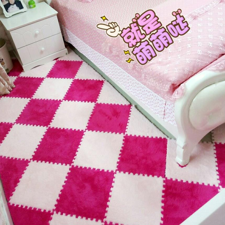 Baby mats children crawling Floor Mat Puzzle thickened suede stitching warm carpet mat