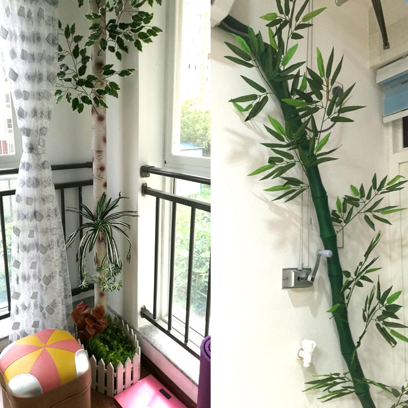 Las conducciones de tuberías de gas envasado tubo de bambú y hojas de bambú decorativo de simulación piel falsa de corteza de abedul.