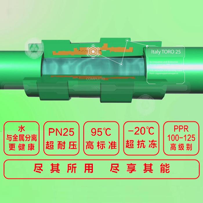 Italia 拓乐 patentes de gama alta de agua potable tuberías accesorios importados directamente no sólo fuera de seda
