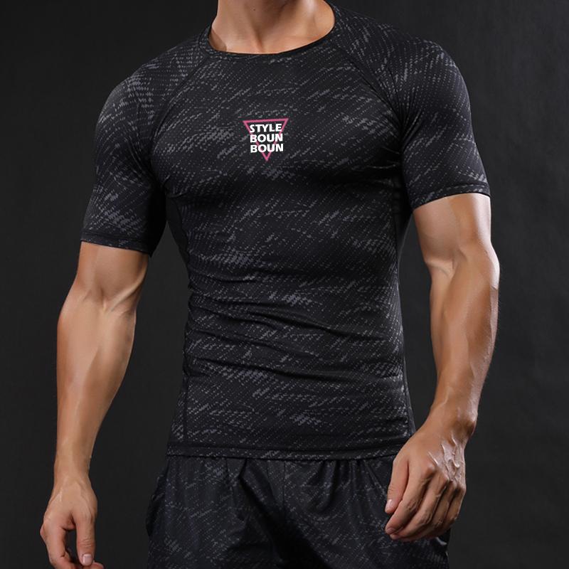 Die turnhalle die muskeln fitness - mann großen code Stretch - Bewegung läuft trainer basketball - trikot fitness - T - shirt.
