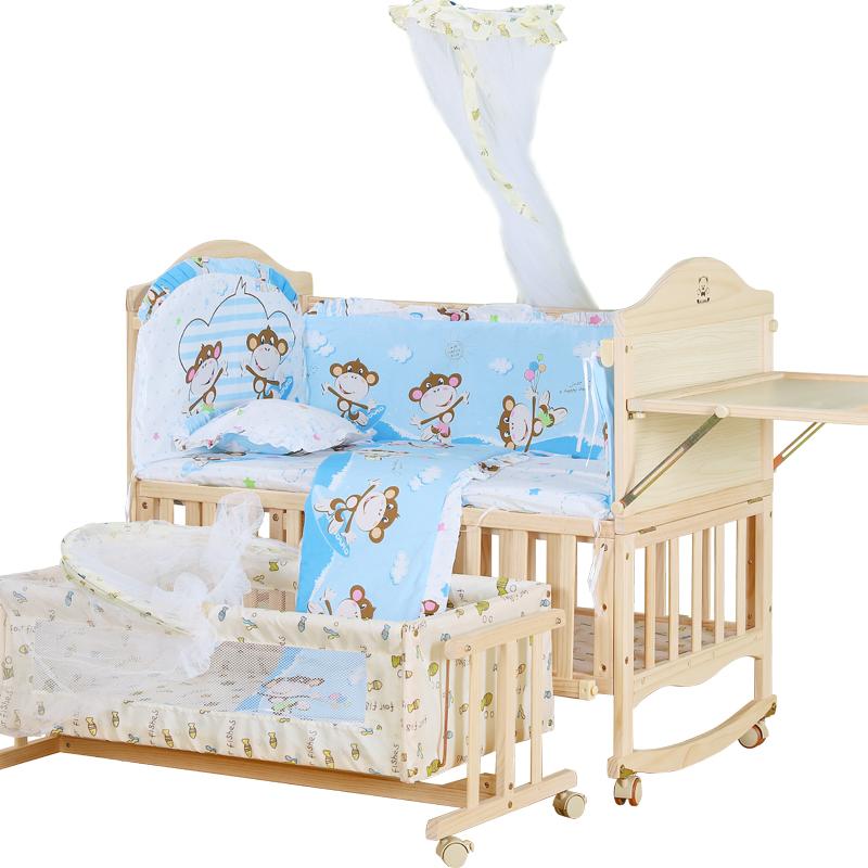 Προστασία του περιβάλλοντος χωρίς μπογιά το λίκνο της κρεβάτι μωρό κρεβάτι ξύλο το μωρό καλά παιδιά νεογνά πτυσσόμενου σέικερ με κουνουπιέρα...