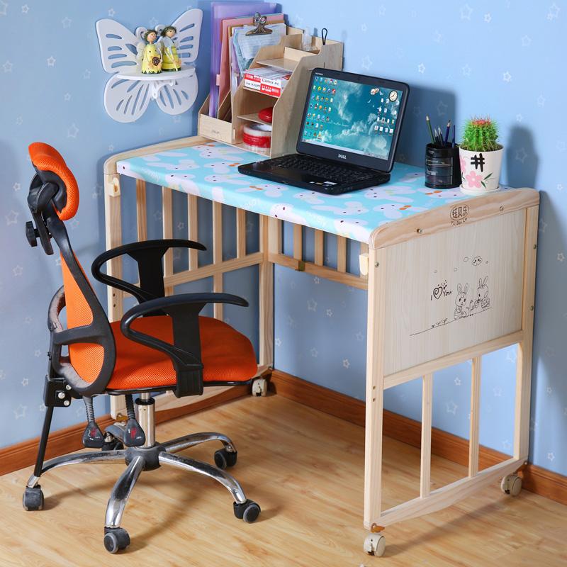 Το κρεβάτι της Ευρωπαϊκής Λευκό ξύλινο κρεβάτι μωρό μου καλά παιδιά ββ πολυλειτουργικά μεταβλητή γραφείο παιχνίδια για παιδιά με κιγκλίδωμα
