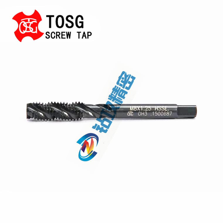 Imported OSG stainless steel oxidized black screw tap M2M2.5M3M4568M10M12-M16TOSG tap