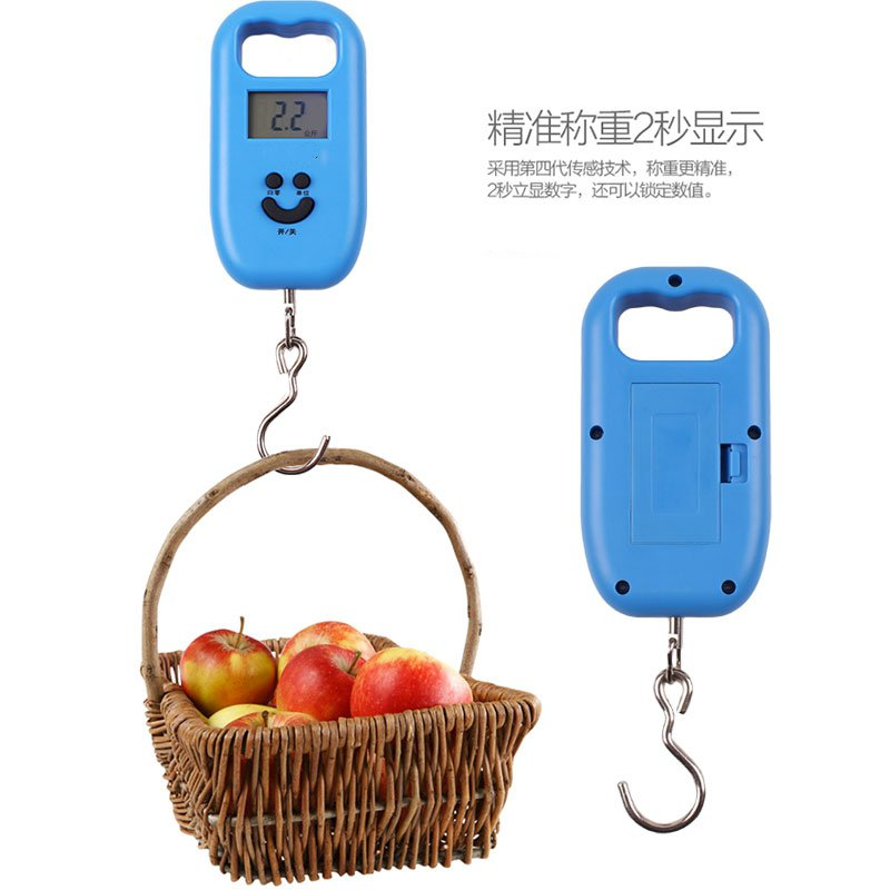 Mini household portable electronic scales weighing hand hook scale electronic hooklet said electronic spring balance express