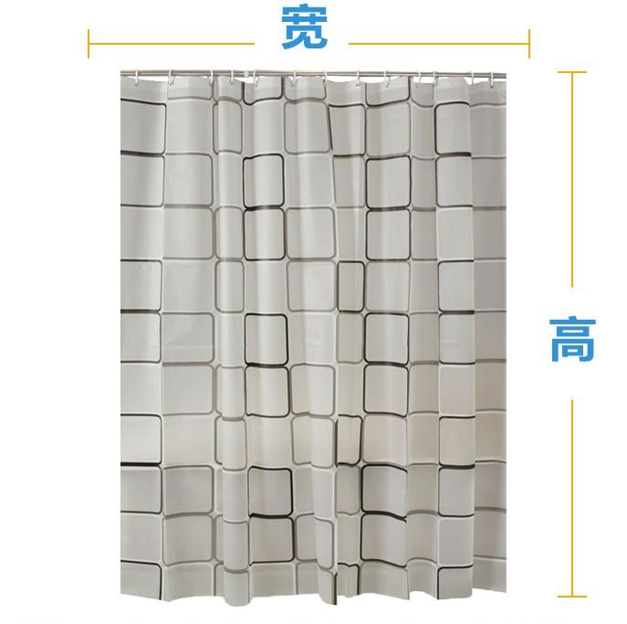 La porte de cloison étanche à l'eau des toilettes de perforation plus sanitaire de salle de bains de rideau rideau de protection européenne de tissu de séparation imperméable à l'eau
