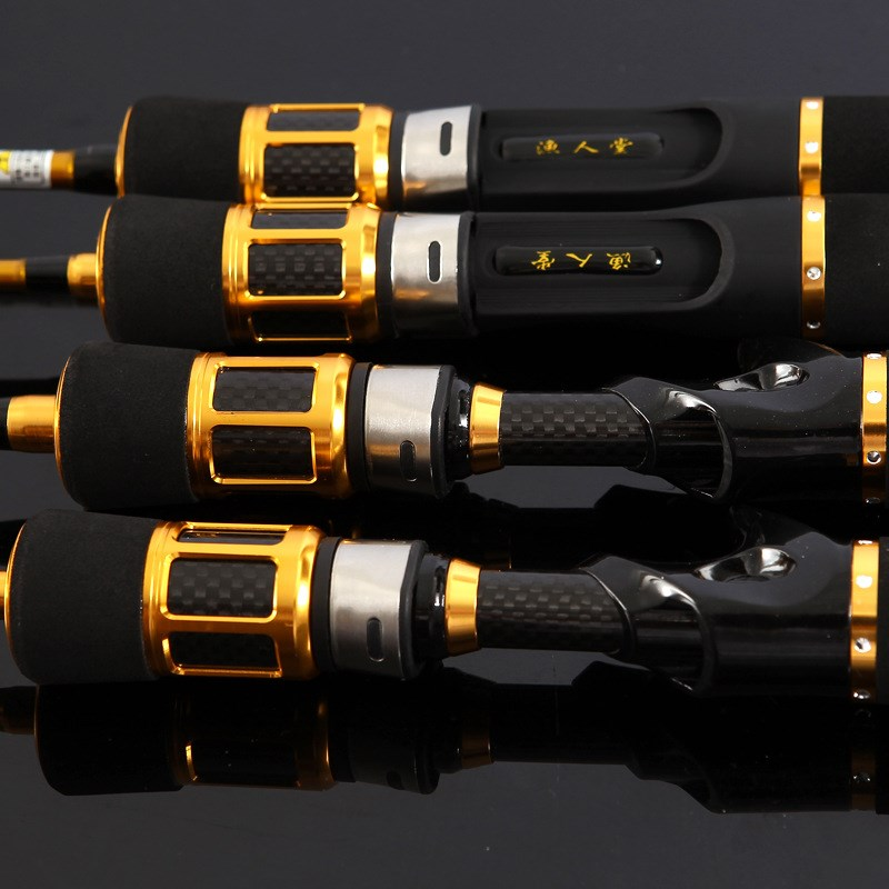Hot selling rafts titanium alloy rod slightly soft tail valve stem package micro lead rafting fishing rod carbon water drop wheel 3 rods