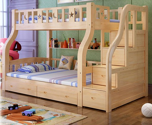 High and low bed, 2017 beds, boy mother bed, mother and child bunk bed, upper and lower berth female