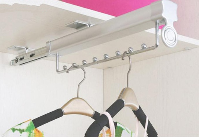 Double hook clothes hanger rod bar cabinet hanging rod bracket cloakroom small general hardware accessories