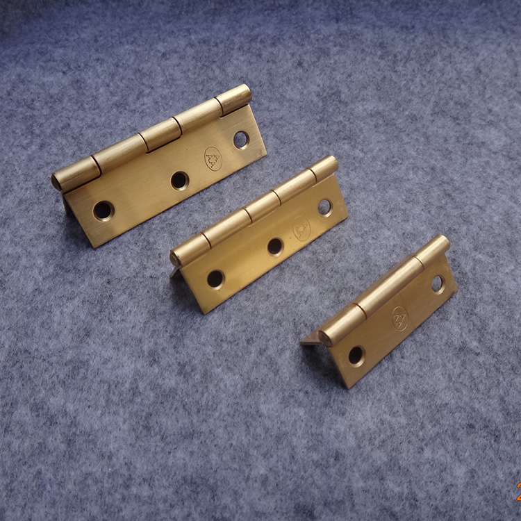 Thick wooden furniture boutique pure copper hinge hardware accessories Mini hinge hinge 1 inch 1.5 inch 2 inch
