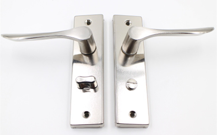 Stainless steel toilet lock, American toilet door lock, no single hotel, simple universal door door